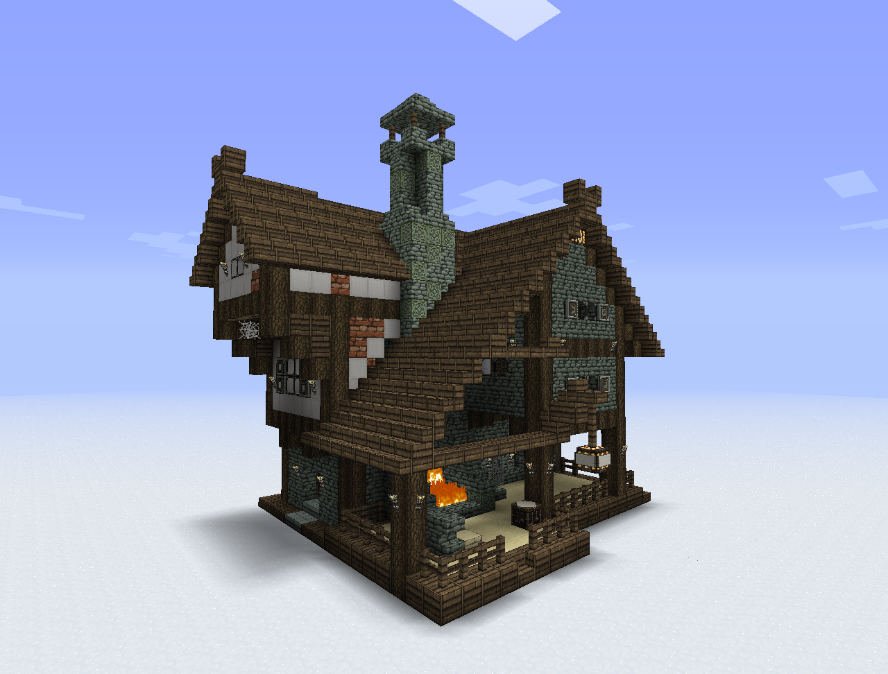 Easy Minecraft House Building Ideas Brick Pinned By Www Modlar