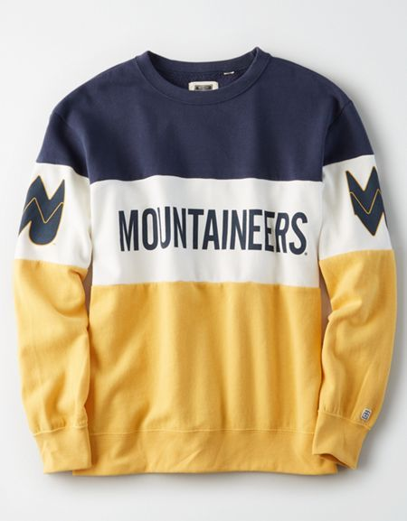 Tailgate Women's WVU Mountaineers Colorblock Sweatshirt #wvumountaineers
