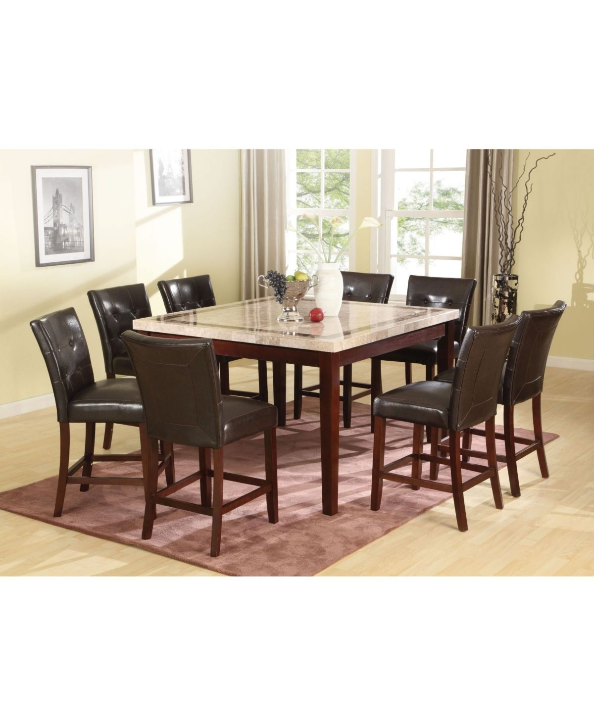 Danville Counter Height Chair Set Of 2 Brown Counter Height Dining Table Set Counter Height Dining Table Dining Table
