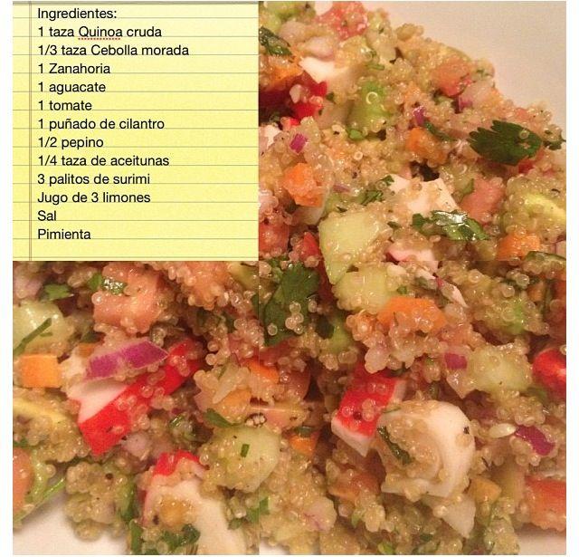 Deliciosa quinoa preparada con un toque de surimi