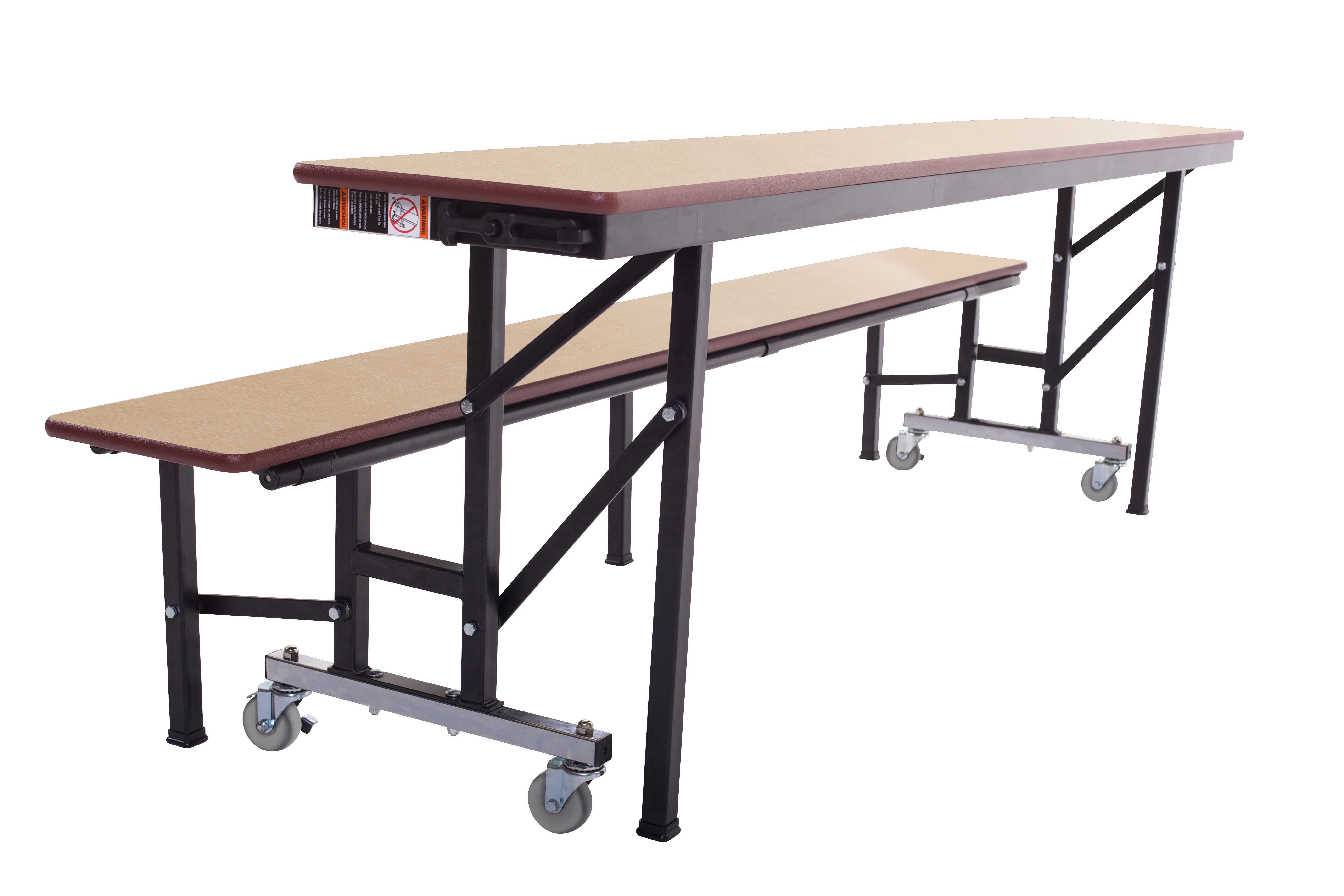 The Mobile Convertible Bench Is A Education Facility 39 S Best Piece Of Furniture Cafeteria Table Table Sizes Bench Table