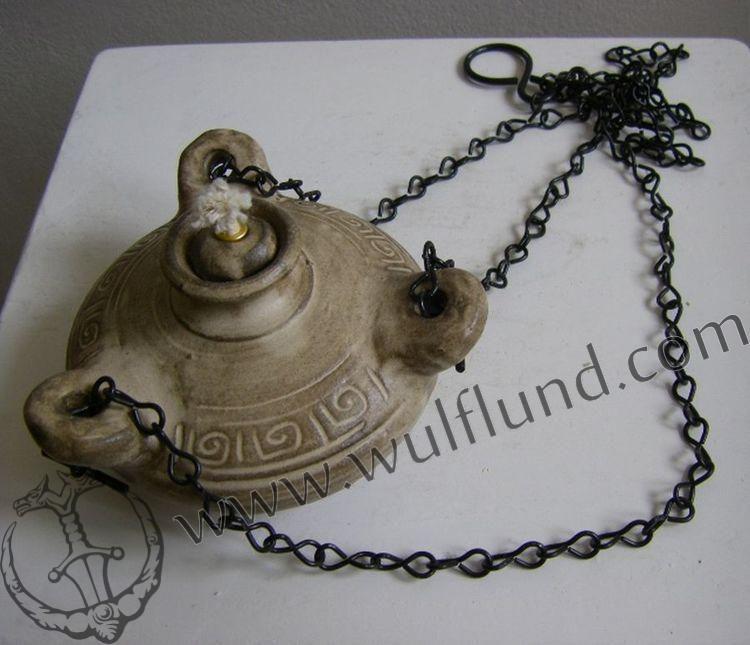 Medieval Hanging Oil Lamp Ceramic Middot Medium Max Oil Lamps Ceramic Candle Ceramic Lamp