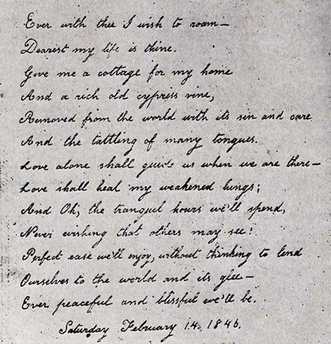 A lovely letter written by Virginia Eliza Clemm Poe for