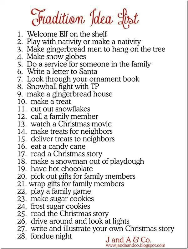 Christmas traditions ~~ the things we remember MOST about the Holidays.