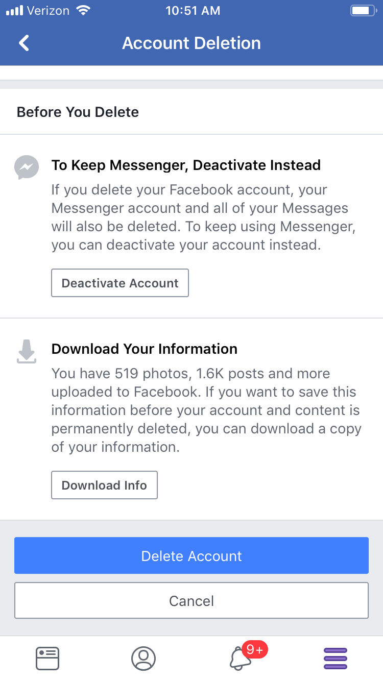 How to delete your Facebook account in seven steps