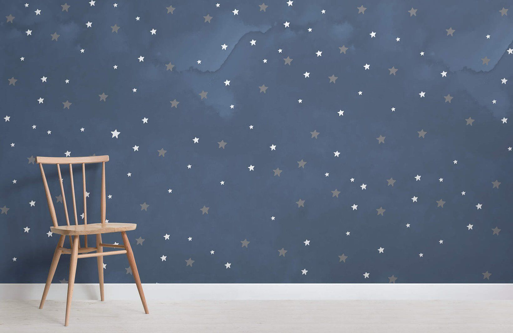Star Pattern Wallpaper Starry Night Style Muralswallpaper