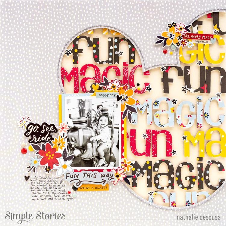 """Simple Stories Say Cheese 4 Stencil 6/""""x6/"""" fuegos artificiales"""