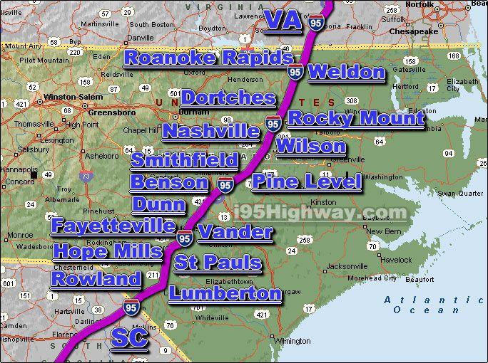 Traffic Map 95.Interstate 95 North Carolina Traffic Map I95 North Carolina
