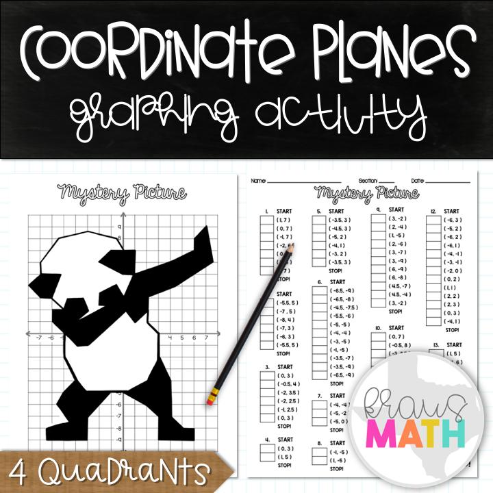 Panda Dab Coordinate Planes Activity (4 Quadrants