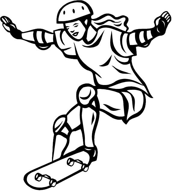 Skateboarding coloring page | Coloring pages | Pinterest | Skateboard