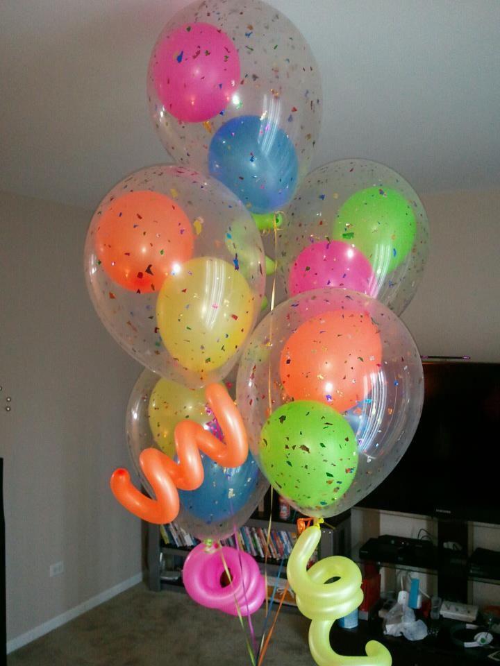 Globos ne n dentro de globos transparentes diferente no for Decoracion con globos 50 anos