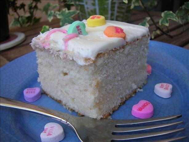 White Almond Sour Cream Wedding Cake Recipe Food Com Recipe Sour Cream Cake Cream Wedding Cakes Cake