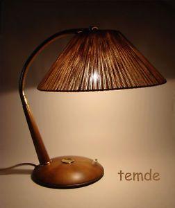 Teak Tischlampe Mid Lamp Table 60s Temde Adjustable Century Lampe nOkX0wPN8