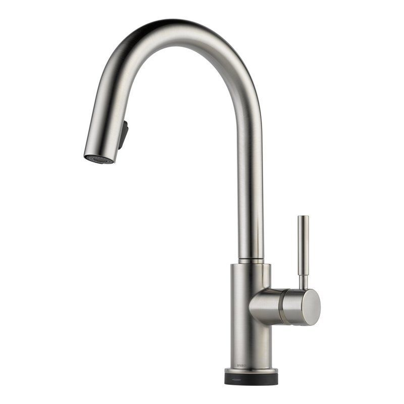 View the Brizo 64020LF Solna Pull-Down Kitchen Faucet with On/Off ...