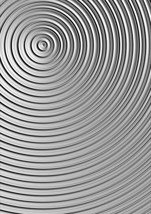 A minimalist abstract in grayscale.