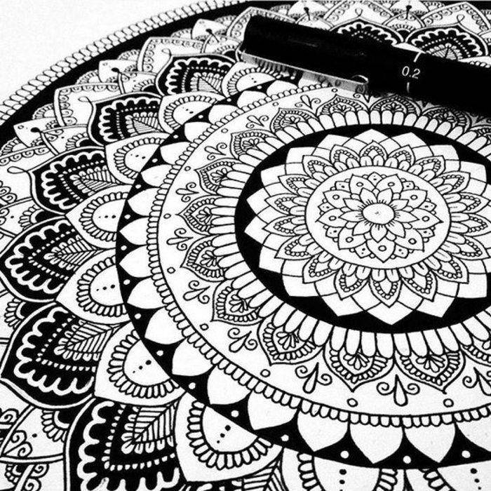 Mit Stiften Malen Krofessioneller Und Erfahrener Maler Ausmalbild Ausmalschablone Zeichenbuch Mandala Malen Anleitung Mandala Gemalde Mandala Kunst