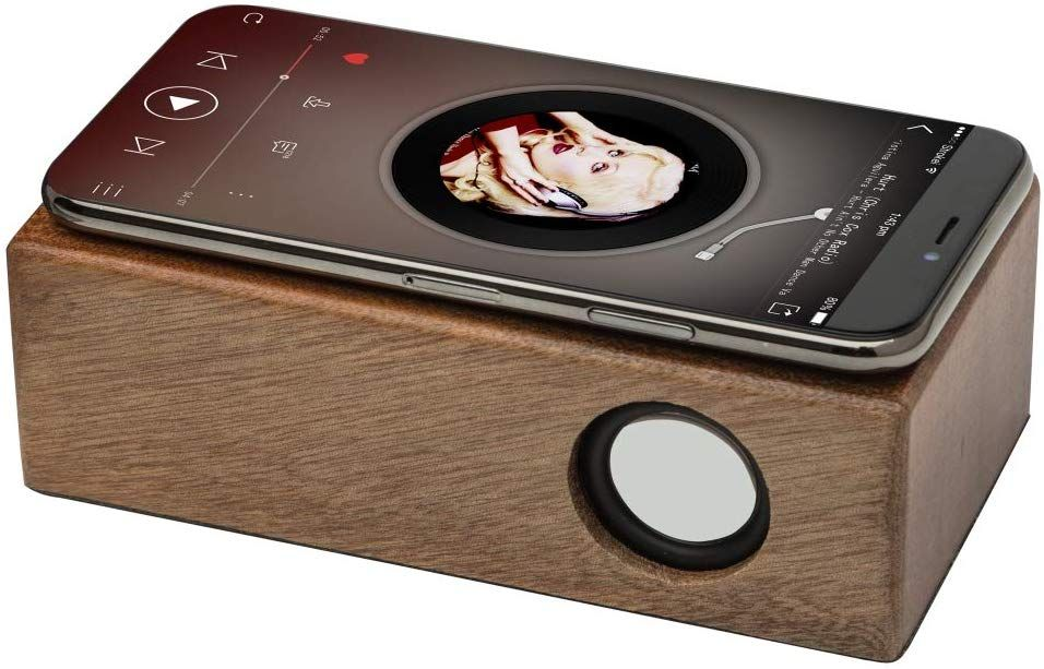OHHAI Wireless Touch Stereo Portable Wooden Speaker