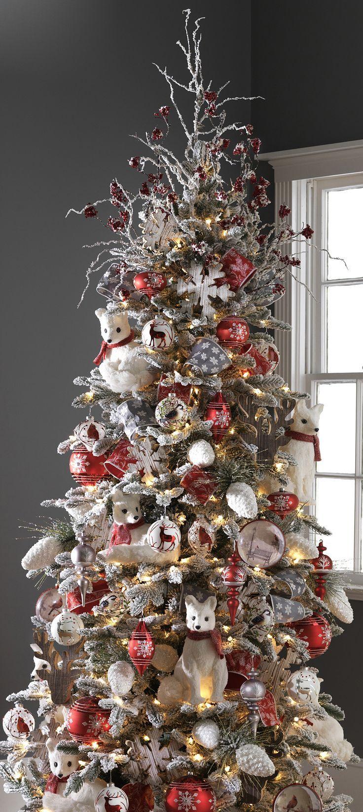 Raz Imports 2015 Graphic Woodland Tree Decoracion De Pinos Navidenos Decoracion Navidad Decoracion Arbol De Navidad