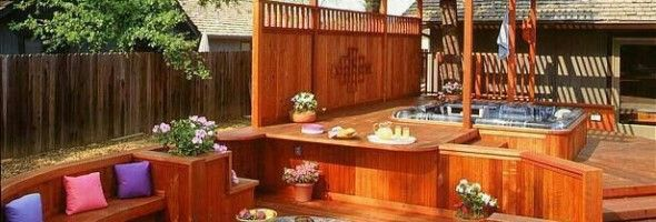 hot tub patio designs a fire pit could make the water in your backyard tub hotter - Patio Ideas With Hot Tub