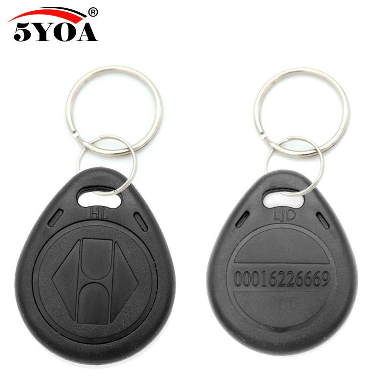 100pcs Rfid Keychain Stickers Card Tag Key 125khz Id Keyfob Tk4100 Em4100 Access Control Time Attendance Sticker Fob Token Ring Rfid Key Fobs Card Tags