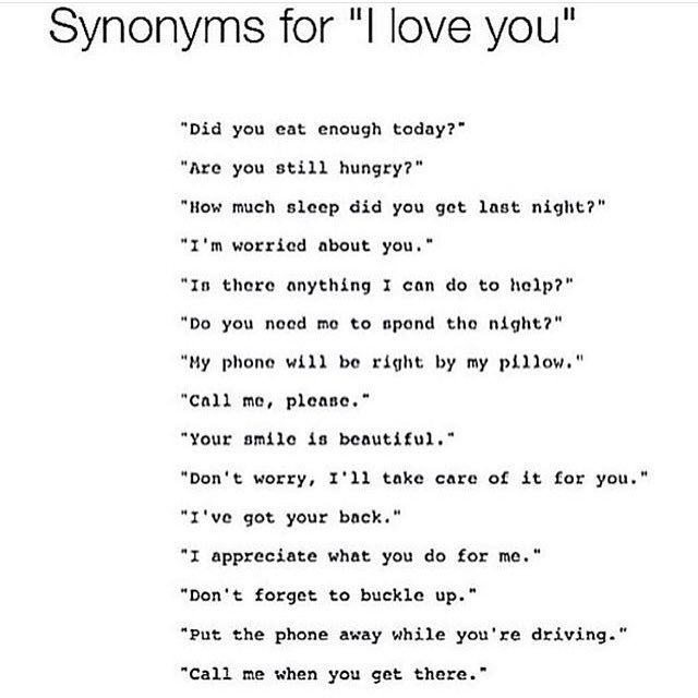 Synonyms For I Love You Synonyms For Love Words If You Love Someone