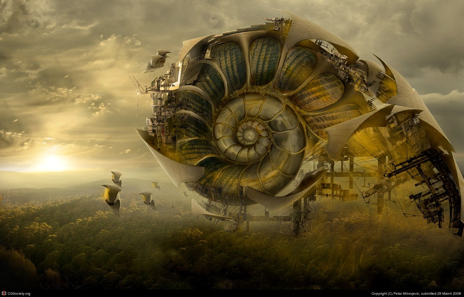 Fibonacci Spiral In Nature | Sci-fi art by Petar ...