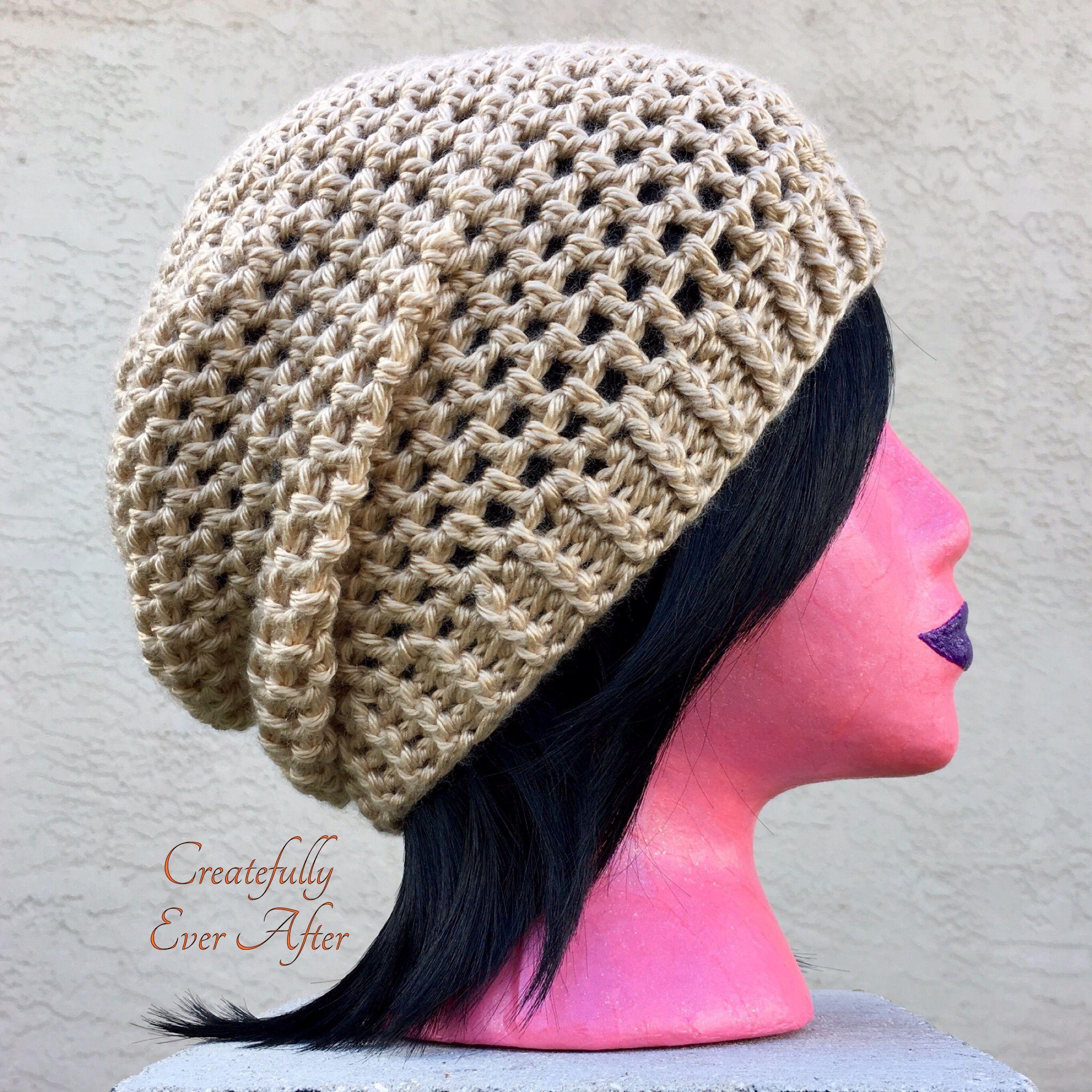 large choix de couleurs bons plans sur la mode en présentant Mesh Slouch Hat - free crochet pattern at Createfully Ever ...