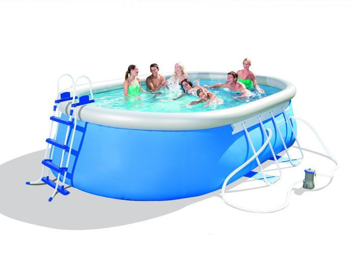 Bestway Oval Frame Inflatable Pool 10ft x 16ft x 42\