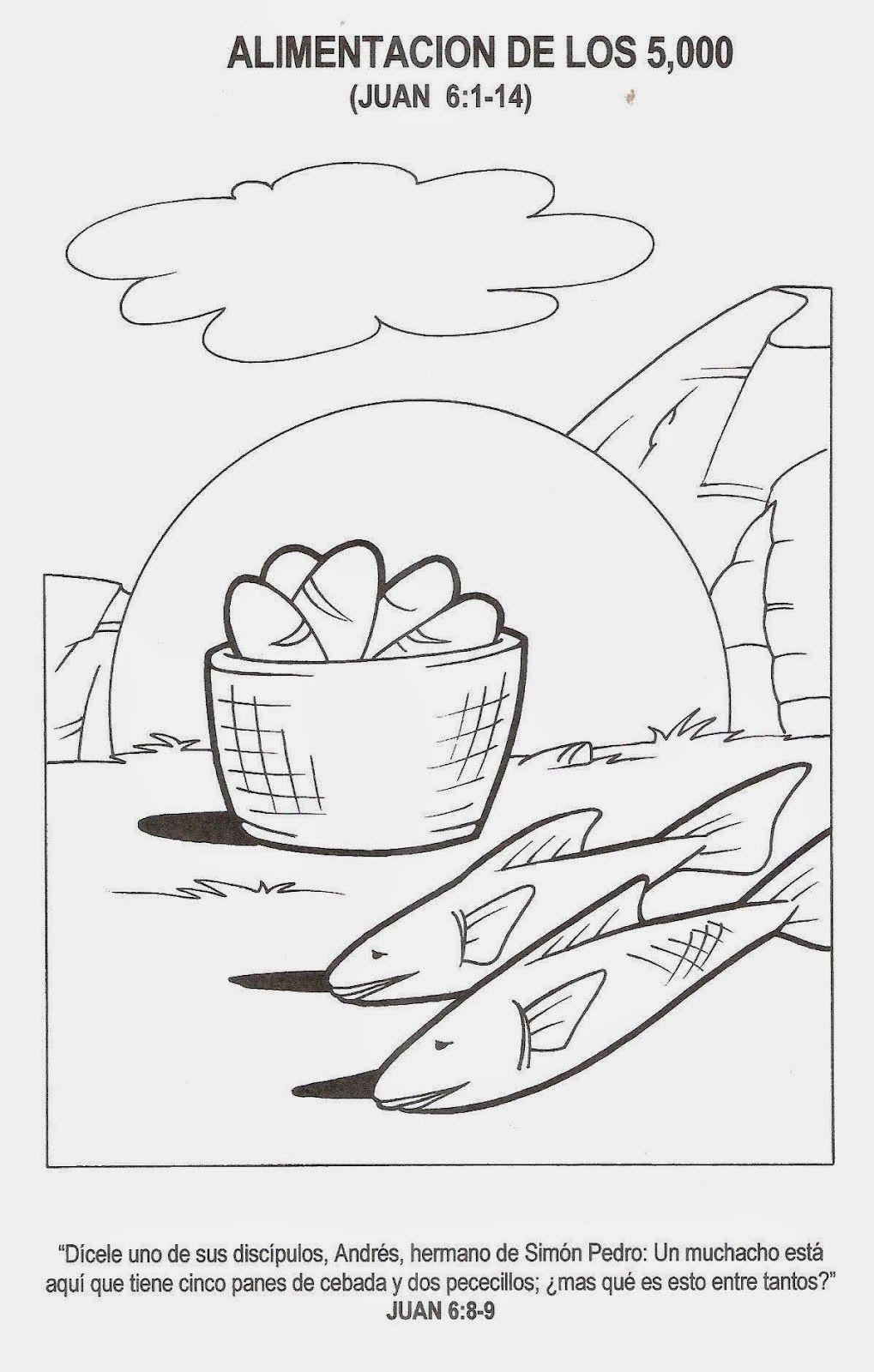 La Multiplicacion De Los Panes Manualidades De Peces Dibujos Plantillas Para Bordar