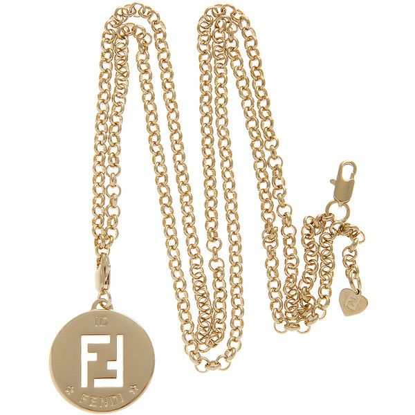 Fendi ff logo long gold necklace found on polyvore jewels fendi ff logo long gold necklace found on polyvore mozeypictures Images