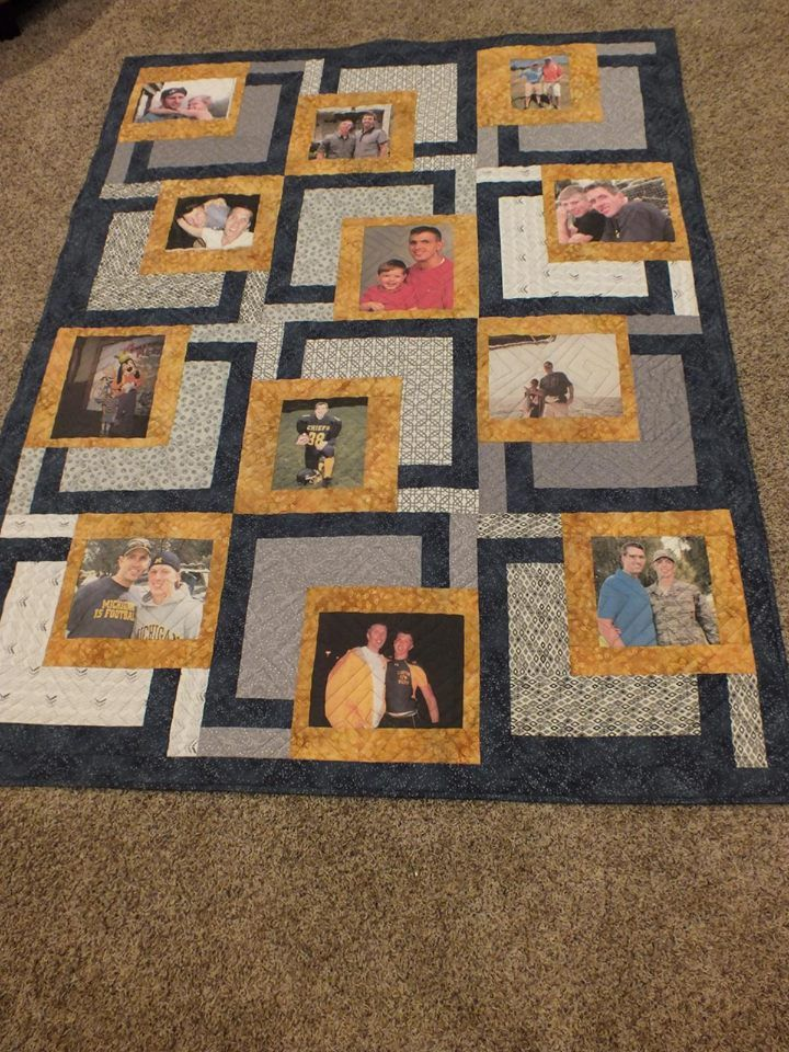 Have you ever made a photo quilt? What a heartwarming and fun idea ... : memory quilt ideas - Adamdwight.com