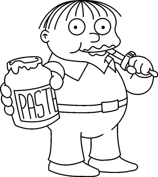 """""""Ralph"""" Simpsons Coloring Page in 2019 