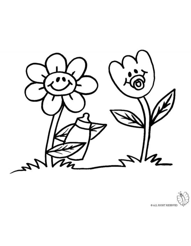 Disegno di fiori da colorare disegni da colorare pinterest for Fiori grandi da colorare
