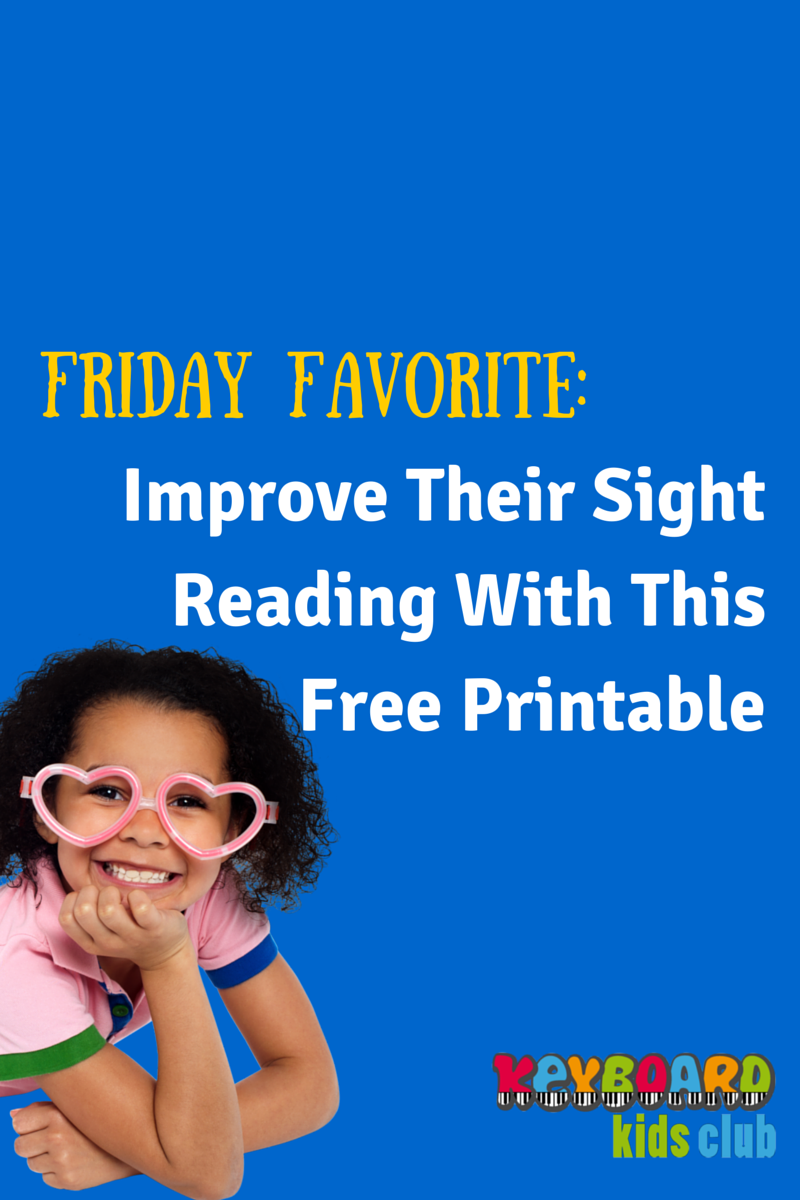 One of my Friday Favorites FREE printable sight reading