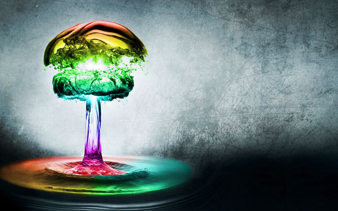 Cool Backgrounds HD 03 Rainbow abstract