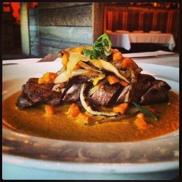 #specials #west Hartford #ct , Entree ~Pato con Mole Amarillo: Pan seared Long Island #duck breast over mole amarillo served w/ wild mushrooms & #sweet #potatoes #appetizer #entree #weekend #mexicanfood