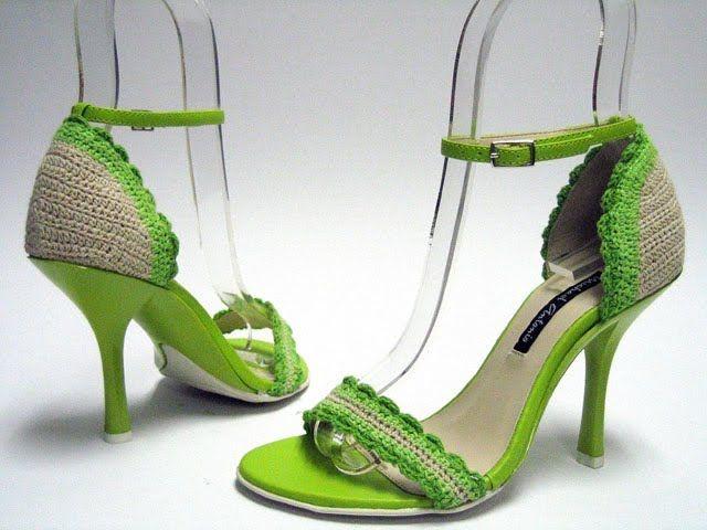 Pin de SANDRA NUÑEZ en zapatos, botas de crochet | Pinterest | Botas ...