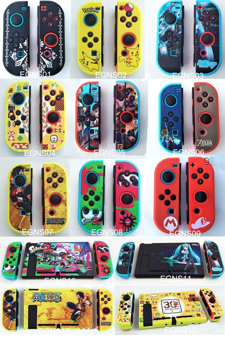 Custom frosted trio color game themed nintendo switch joy con color case cover skin shell for nintendo switch ns console