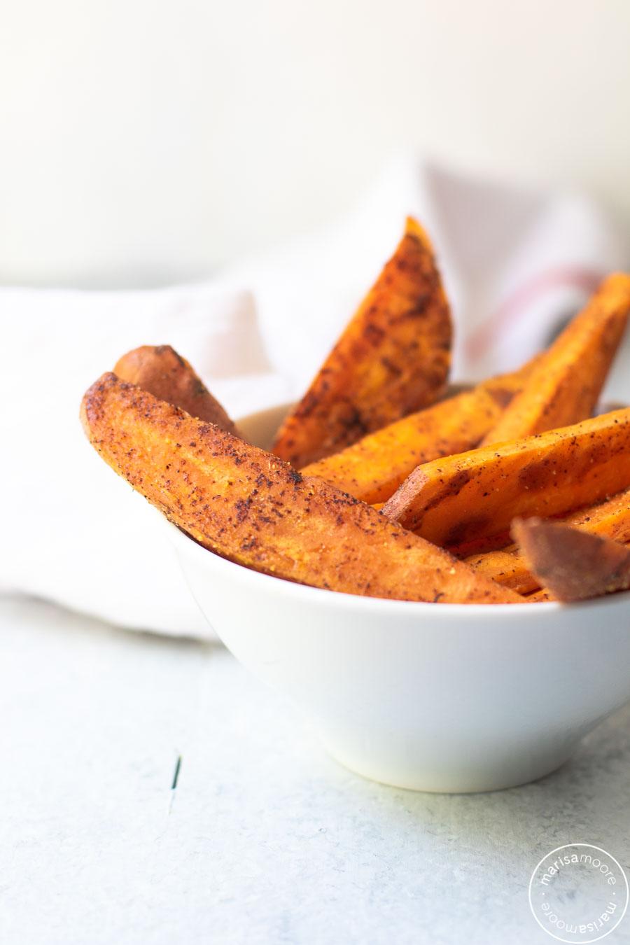 Healthy Baked Sweet Potato Fries Recipe Sweet Potato Sweet Potato Recipes Sweet Potato Fries Baked
