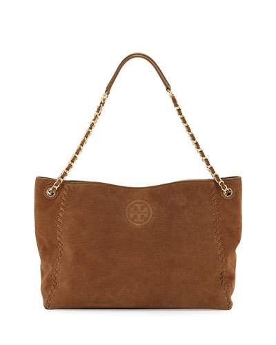 afad7748adea TORY BURCH Marion Slouchy Suede Chain Tote Bag