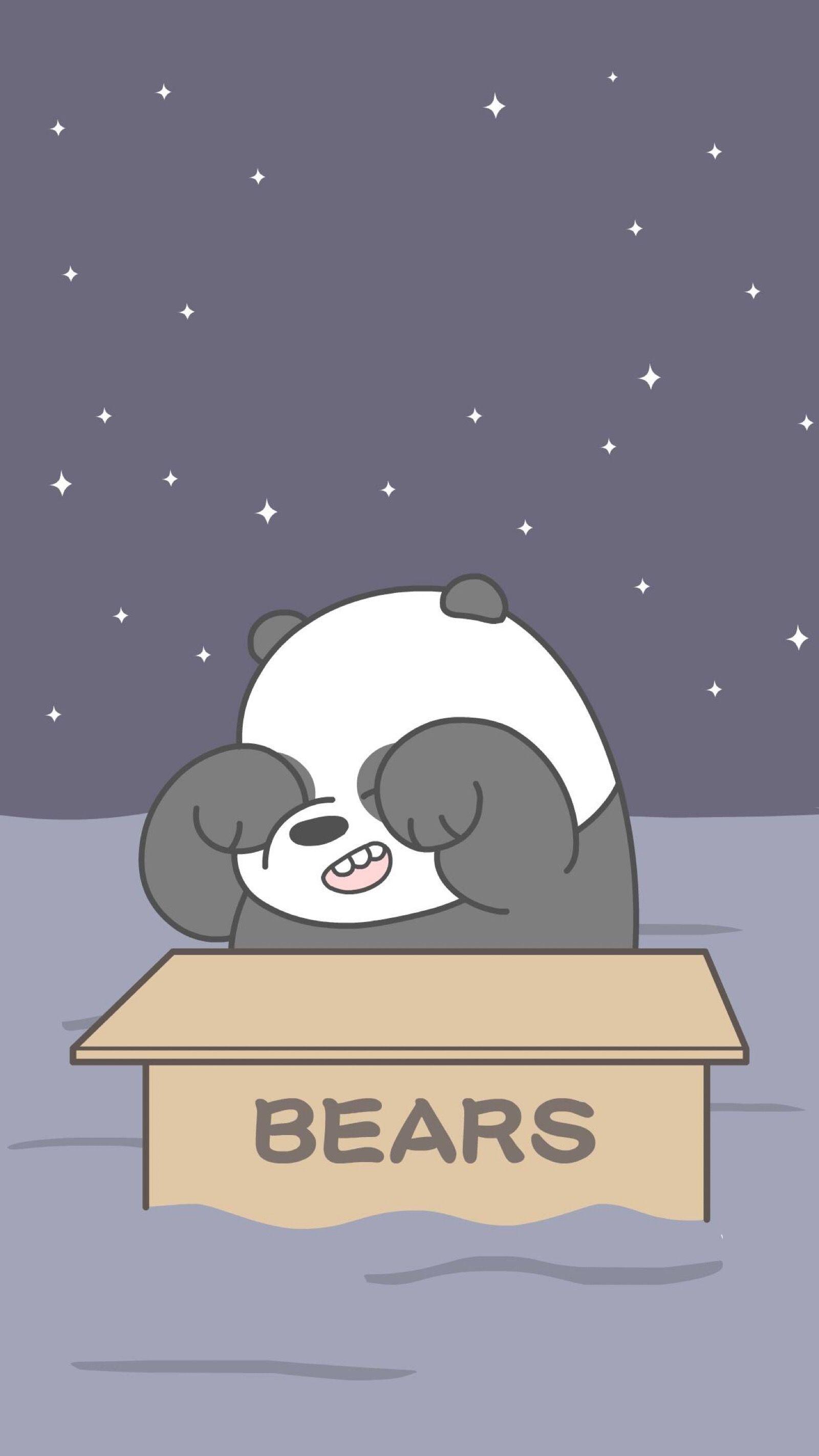 We Bare Bears Beruang Kutub Kartu Lucu Boneka Hewan