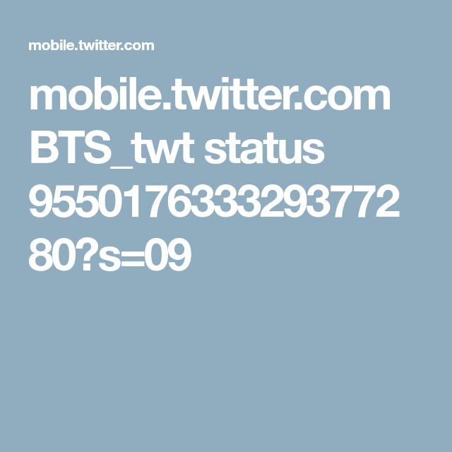 mobile.twitter.com BTS_twt status 955017633329377280?s=09