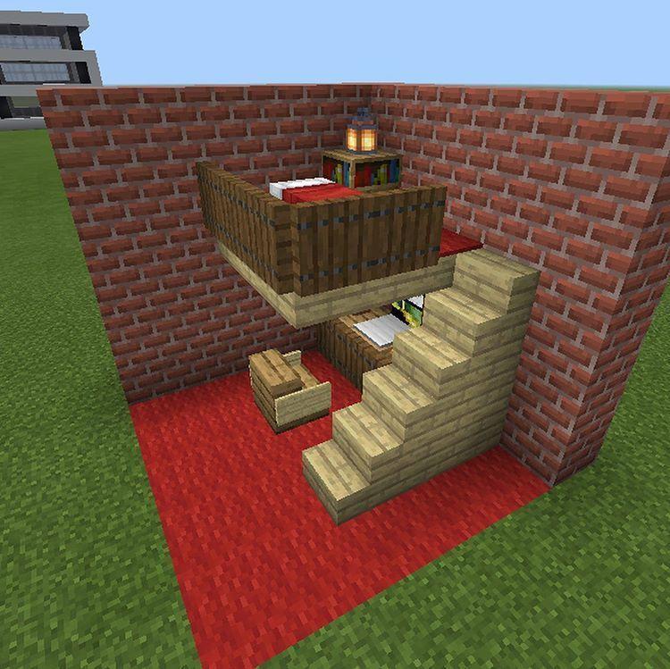 Minecraft Room Ideas In Game Bedroom Minecraft Room Ideas In Game Minecraft Crafts Minecraft Creations Minecraft Room