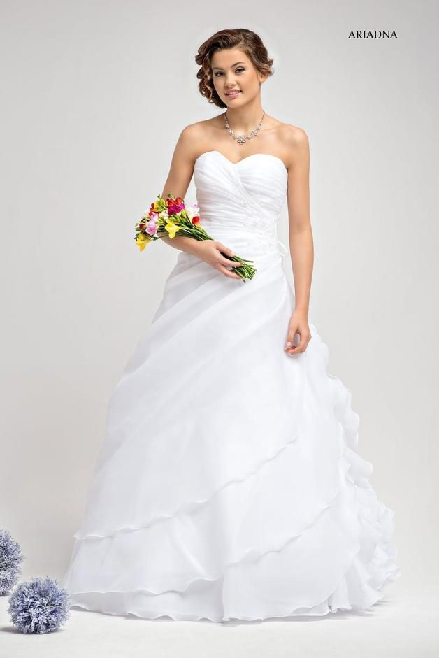 Brautkleid Ariadna A-Linie auch für große Größen