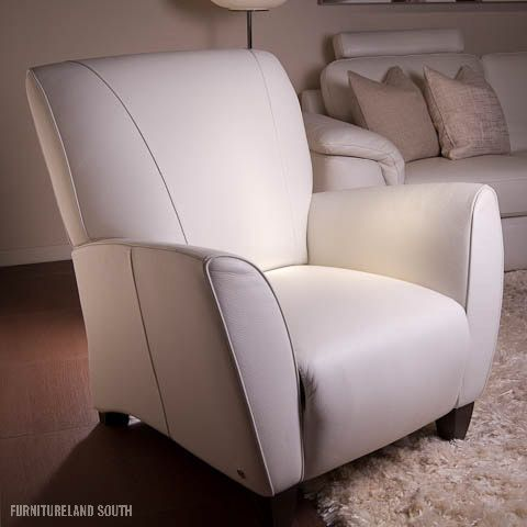 Natuzzi Italy Reclining Leather Chair