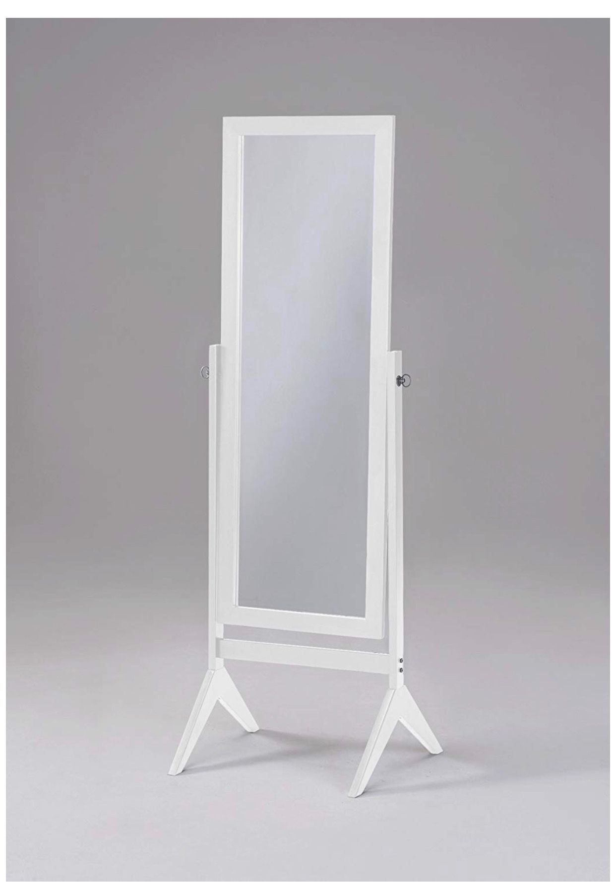 White Finish Wooden Cheval Bedroom Free Standing Floor Mirror Cheval White By Ehomeproducts Https Www Amazon Wooden Bedroom Floor Mirror Home Decor Mirrors