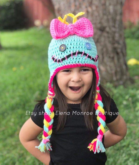Inspired Lilo and stitch scrump hat, knitted scrump hat ...
