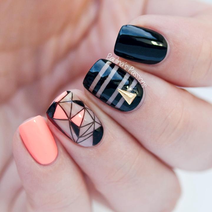 65+ Negative Space Nail Art Designs 2016/17 UK | Diseños de uñas ...