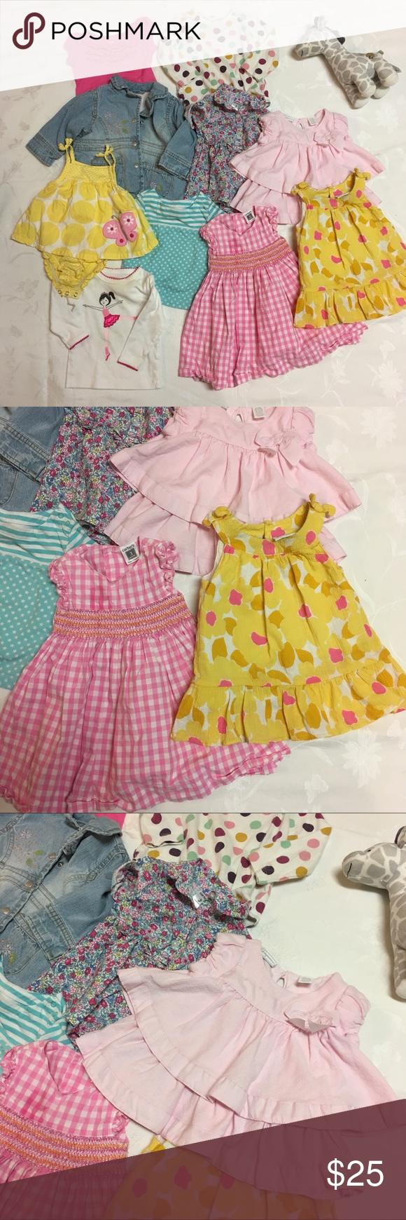 Yellow dress 3-6 months  Baby Girl Lot  Jacket Shirts u Dresses  Month  My Posh Closet