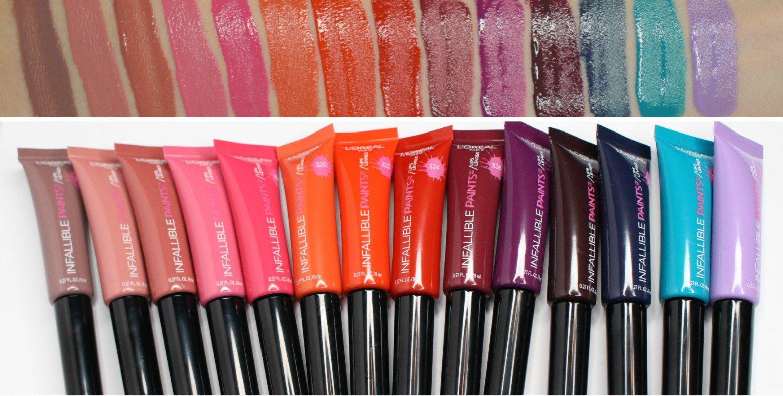 L'ORÉAL Infallible Lip Paints Review & Swatches!! (ALL